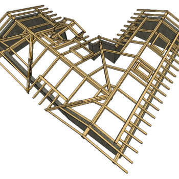 Progetto tetto leggero con interasse travetti diversificato tra interno e esterno