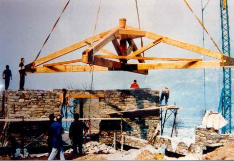 foto tetti in legno