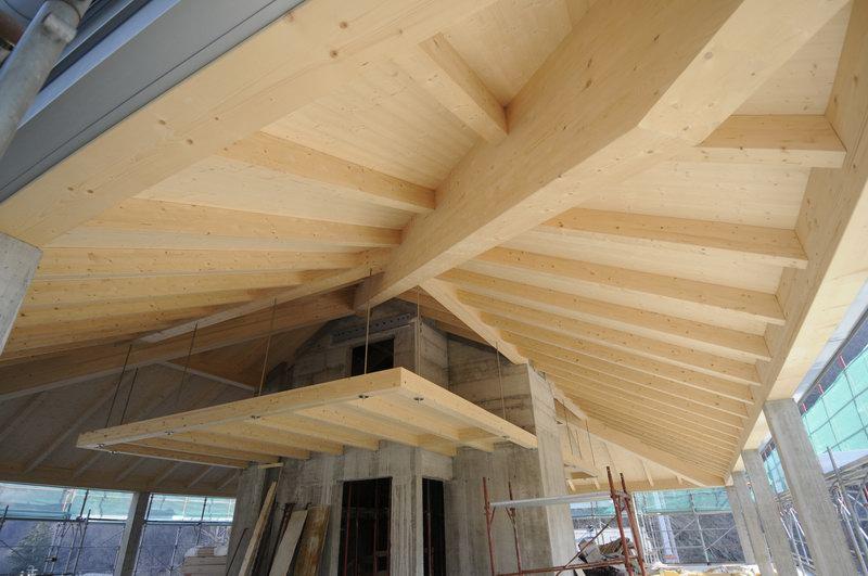 Great tetto in legno lamellare with tetti in legno moderni for Casa legno antisismica costo